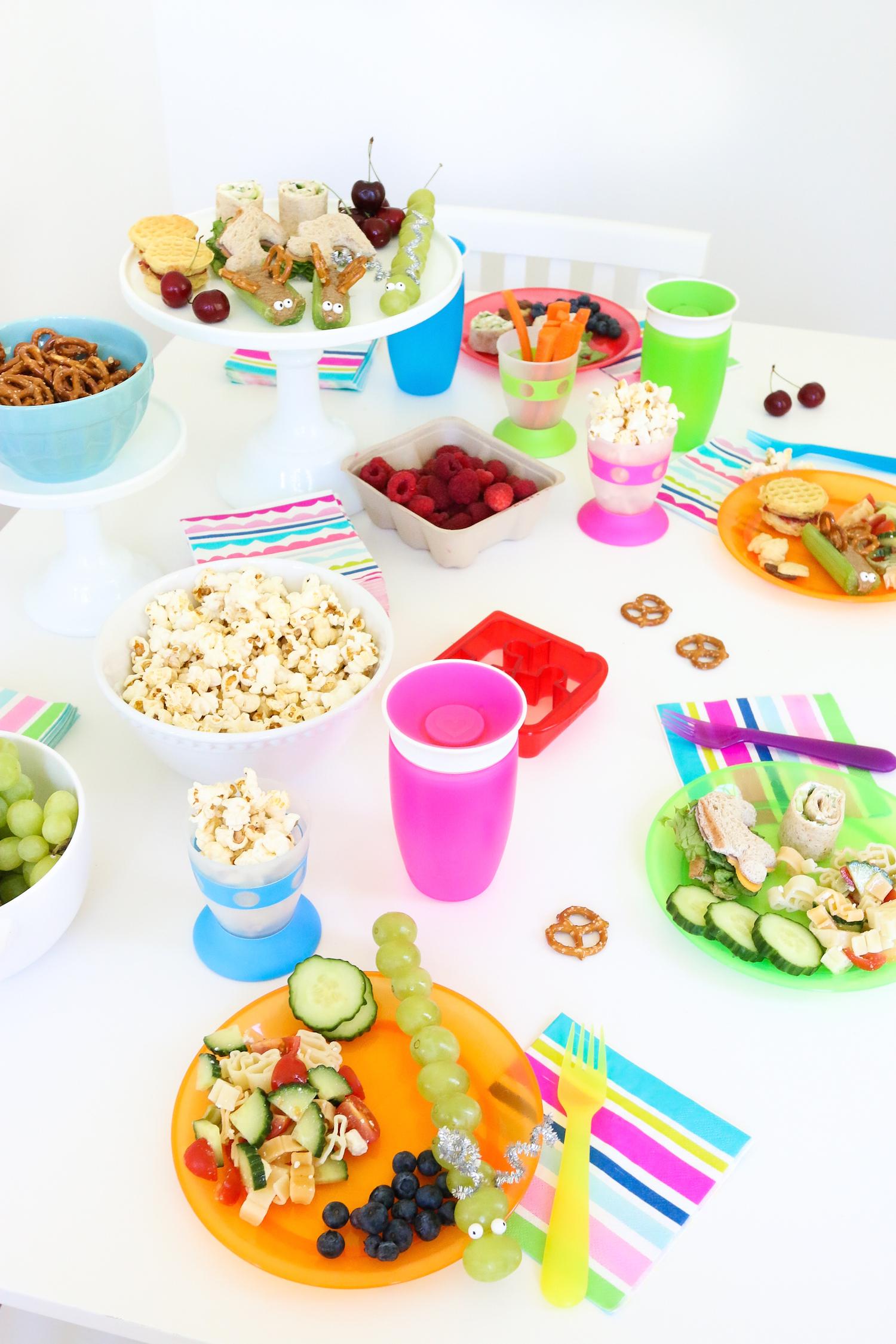 Kids Lunch Ideas Snacks DIY Munchkin Party Ideas Monika Hibbs