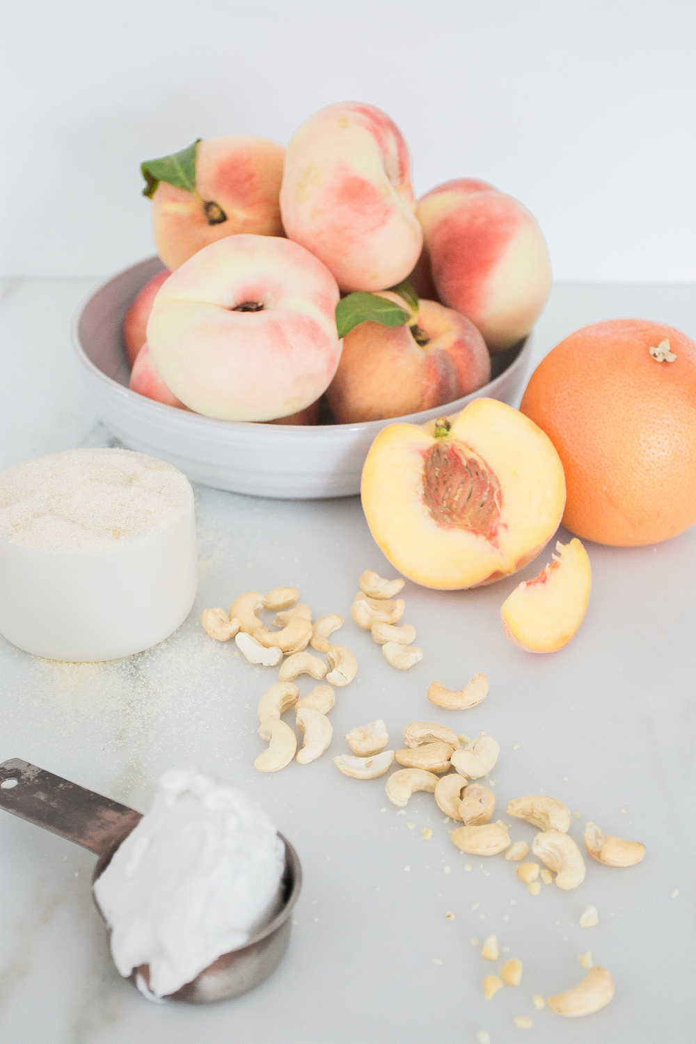 Popsicles Summer Grapefruit Cashews Coconut Peach Monika Hibbs