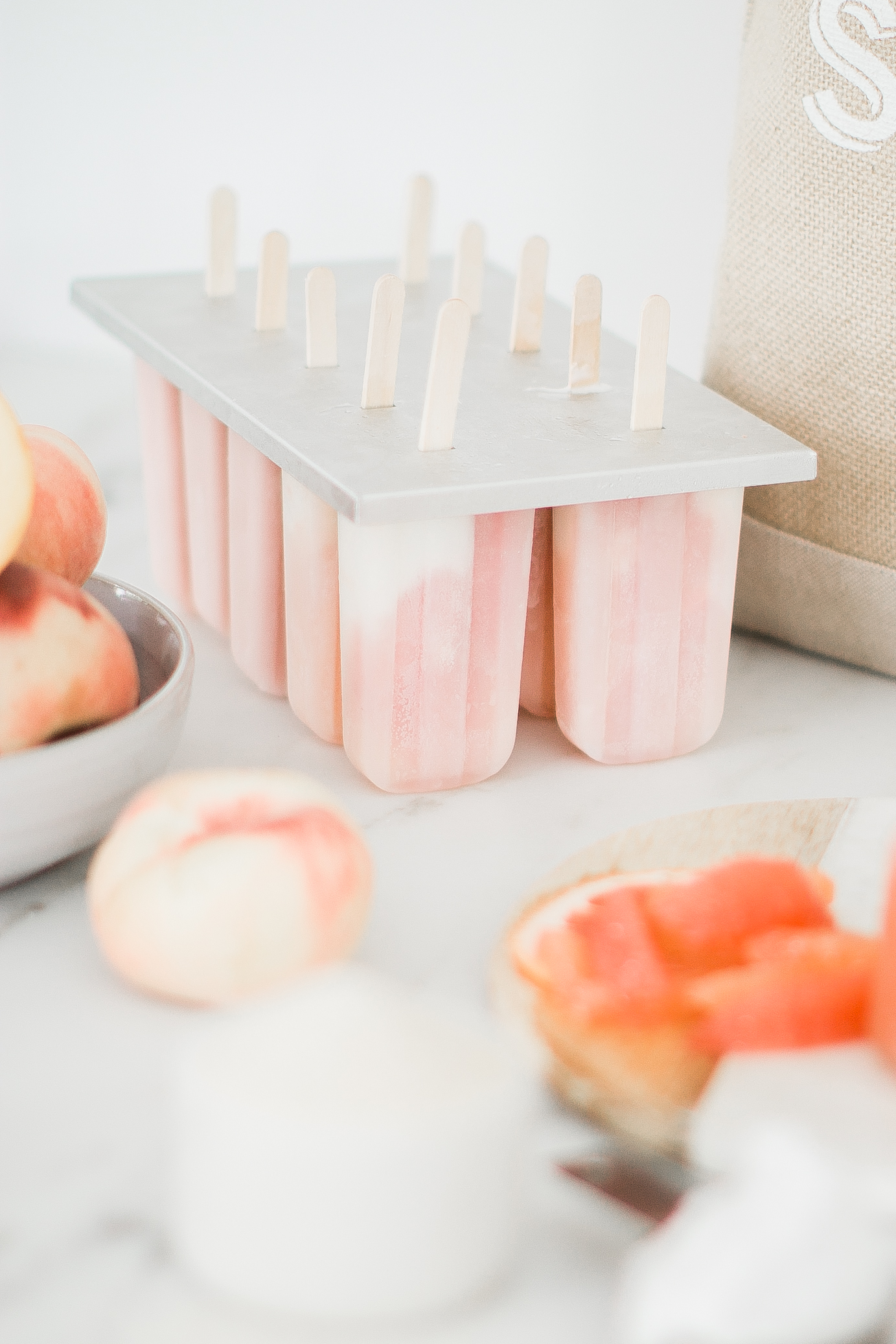 Popsicles Summer Grapefruit Coconut Peach Monika Hibbs