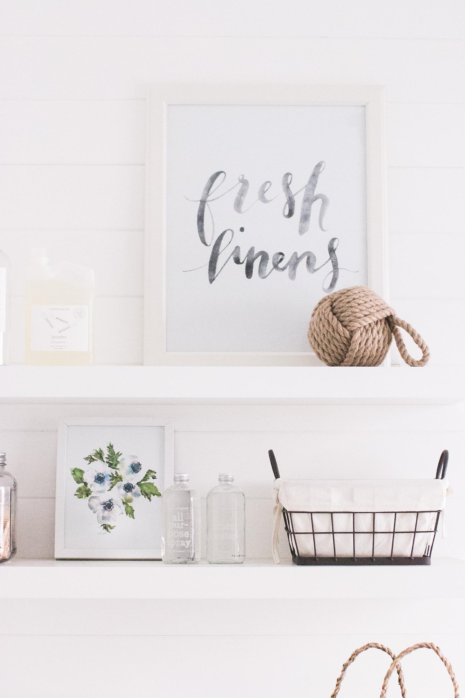 Laundry Mudroom Floating Shelves Fresh Linens Monika Hibbs