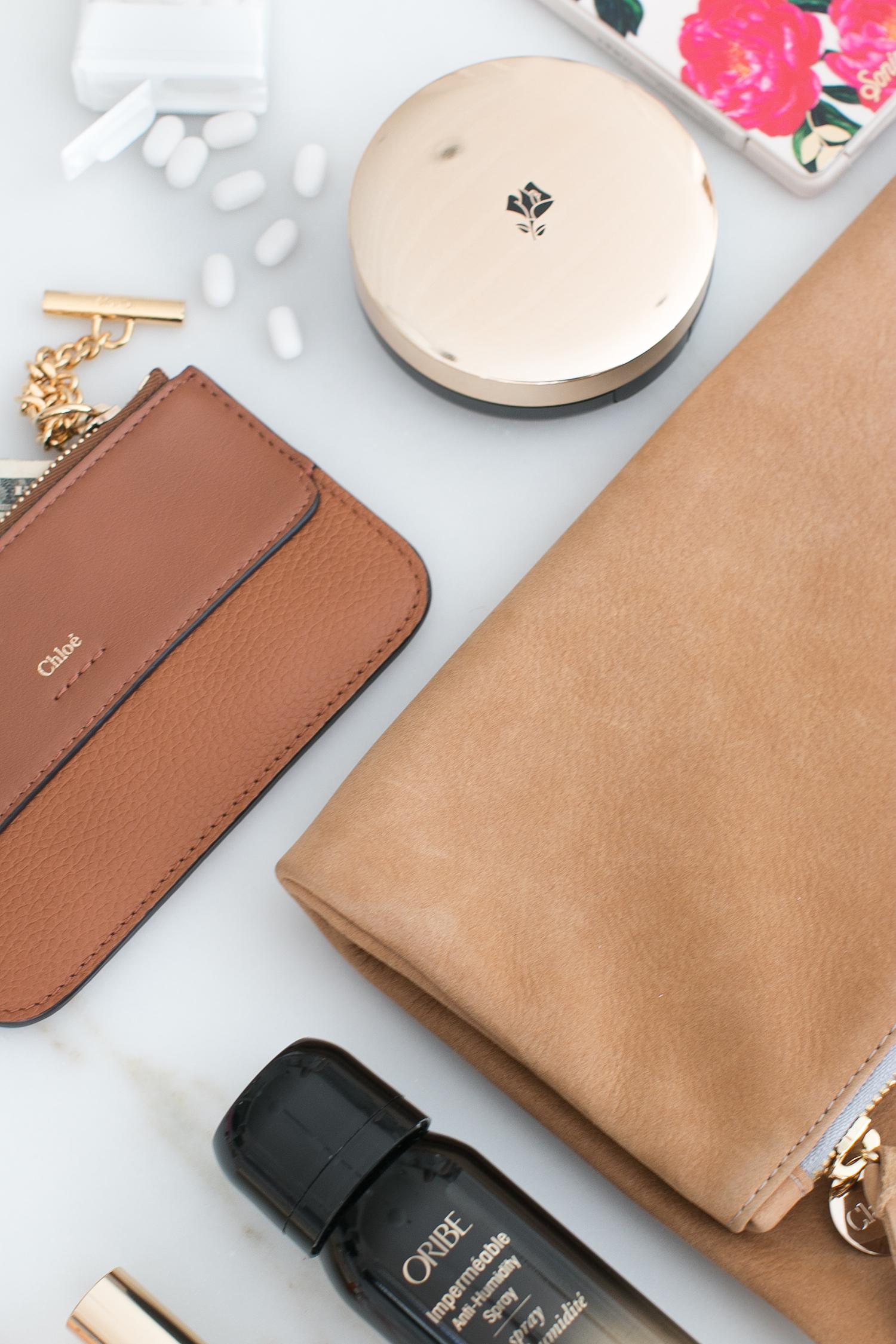 Lancome Chloe Clutch Essentials Make up Oribe Monika Hibbs