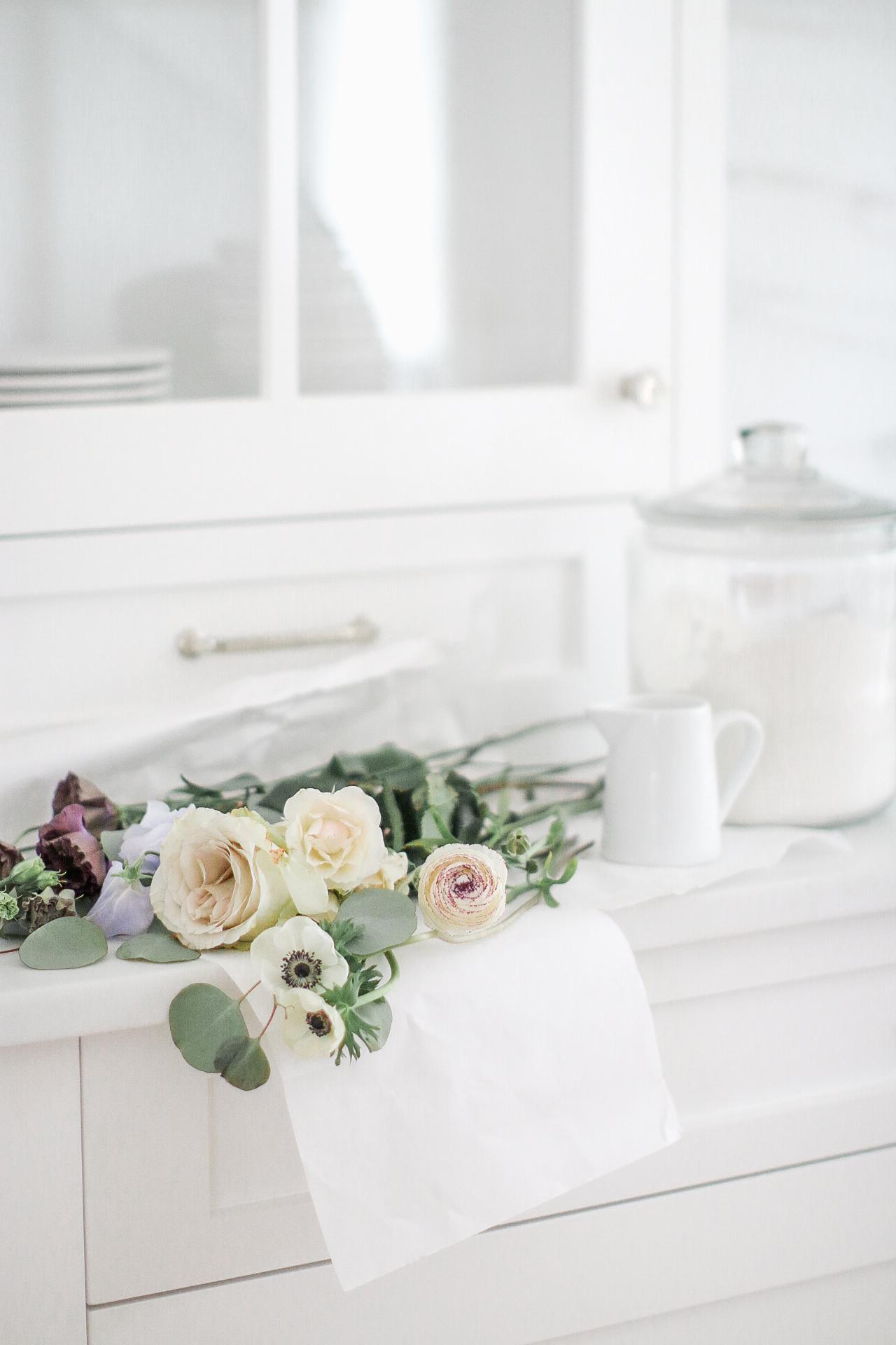 Florals Country White Kitchen Monika Hibbs